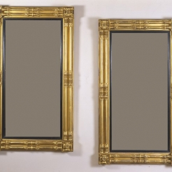 Pair Neo-Classical Pier Mirrors
