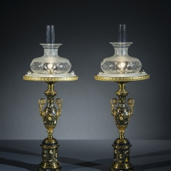 Pair Sinumbra Lamps in the Restauration Taste