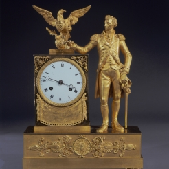 Clock with Full-length Figure of George Washington