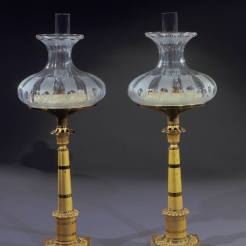 Pair Miniature Columnar Sinumbra Lamps