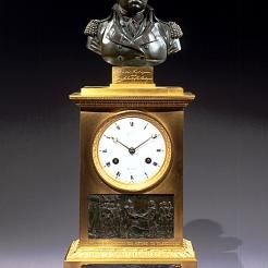 Washington Clock with Relief of Cornwallis Resigning his Sword to Washington