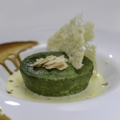 Baby Spinach and Garlic Flan