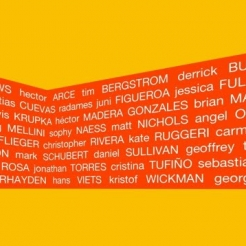 A PERSON OF COLOR/ a mostly orange exhibition. curated by José Lerma