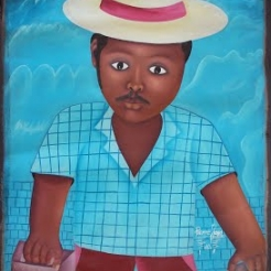 Contemporary Haitian Painting Silent Auction presented by Xav Leplae of Riverwest Radio