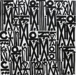 Retna Piece from Figurative Abstractions at Hg Contemporary art gallery in Chelsea