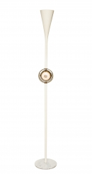 "Rare floor lamp with brass ""Eye Ball"" by Angelo Lelli for Arredoluce"