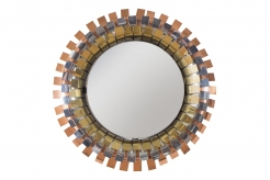 A Curtis Jere Round Eye Lash Mirror