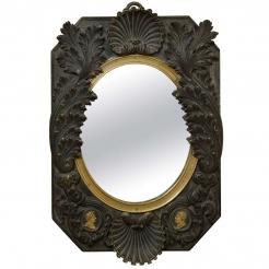French Empire Bronze Mirror