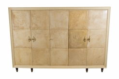 A Fine Osvaldo Borsani Parchment and Maple Wardrobe/Chest