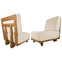 Pair of Slipper Chairs by Guillerme & Chambron
