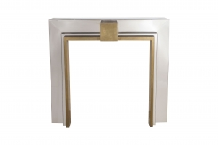 Chrome and Brass Fireplace Mantel