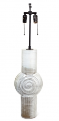 Ceramic Tall White French Lamp