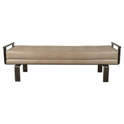 Bronze  Bench with Round or Flat Style Handles by Appel Modern