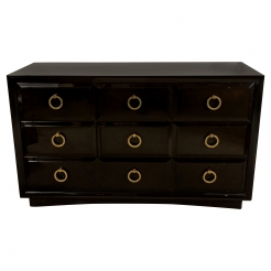 T. H. Robsjohn-Gibbings for Widdicomb Five Drawer Lacquered Chest