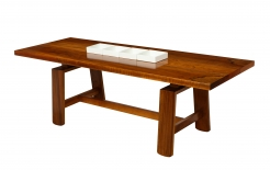 Walnut Dining Table With Ceramic Dishes