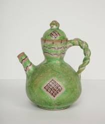 Green Ceramic Teapot by Guido Gambone