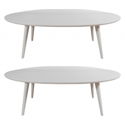 White Lacquer Conant Ball Makers Coffee Tables