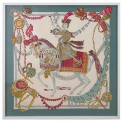 Hermès Silk Scarf, Festooned Horse and Rider