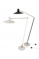 Pair of Stilux Floor Lamps in Black and White
