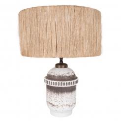 Keramos Ceramic Lamp, Straw Shade