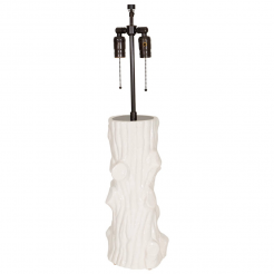 Italian White Ceramic Tree Base Lamp