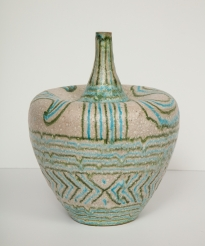 Colorful Ceramic Vessel by Guido Gambone