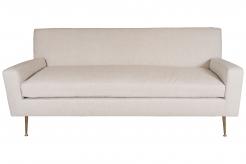Custom Order Robsjohn-Gibbings Sofa with Brass Legs