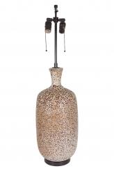 Brown White Ceramic Lava Lamp