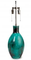 Green Blue Primavera Lamp, Signed
