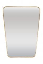 Italian Modernist 1950s Brass Framed Mirror