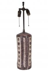 Purple and White Gambone Vase Lamp