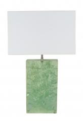 Marie-Claude de Fouquieres Rectangular Green Resin Crackled Table Lamp