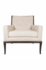 A Pair of American Upholstered Club Chairs in the Style of Robsjohn Gibbings, Made To Order