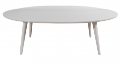 White Lacquer Conant Ball Makers Coffee Table