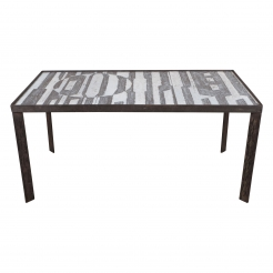Ceramic Black and White Design Low Table by Cloutier
