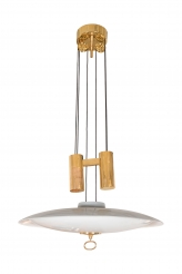 A Max Ingrand Adjustable Height Italian Ceiling Fixture, Fontana Arte