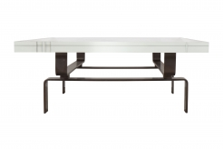 Bronze Cocktail Table with Square Lucite Top by Appel Modern