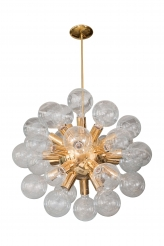 Gold-Plated Starburst Ceiling Fixture by Kobis Lorens