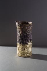 Jean Grisoni 'Pietra' White Gold Finish Vase