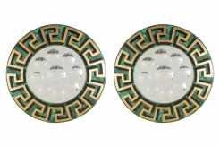 A Pair of Piero Fornasetti Circular Mirrors