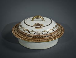 """Chinese Export Porcelain Covered Bowl from the Joseph R. Sims """"Washington Memorial"""" Service"""