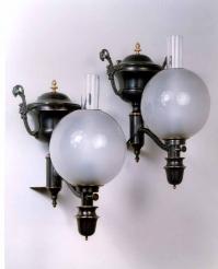 Pair Argand Wall Lamps