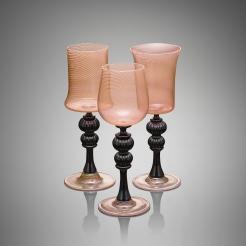 Pink and Black Goblets