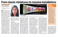 From classic miniatures to massive installations by Tanya Bhattacharya