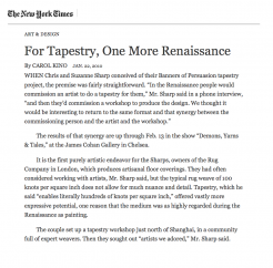 For Tapestry, One More Rennaissance by Carol Kino