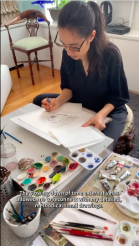 Shahzia Sikander #IntheStudio