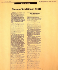 Show of Tradition at RISD by Bill Van Siclen