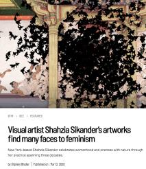 Visual artist Shahzia Sikander's artworks find many faces to feminism by Dilpreet Bhullar