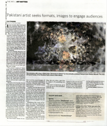 Pakistani artist seeks formats, images to engage audiences by Dan Tranberg