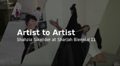 "Shahzia Sikander at Sharjah Biennial 11 | Art21 ""Artist to Artist"""